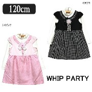 WhipParty レイヤードワンピース 13018A 099クロ 310ピンク 120cm メール便は送料無料♪ ホイップパーティ 子供服 女の...