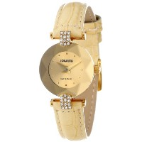 Jowissa ヨヴィッサ レディース腕時計 Women's J5.187.S Facet Strass Gold PVD Coated Stainless Steel Beige Patent Leather Watch
