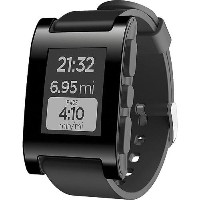 Pebble ペブル スマートウォッチ ブラック Smartwatch for iPhone and Android (Black)