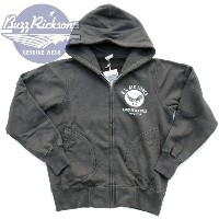 US AIR FORCE FULL ZIP PARKA スウェットパーカー BR65599_119)BLK BUZZ RICKSON'S(バズリクソンズ) Made in JAPAN_fs04gm