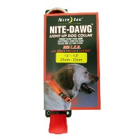 NITE-IZE Night Dawg Collar, Small, Red : NND-03-10S ナイトアイズ 首輪 赤色LEDライト付 安全ライト