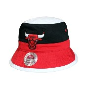 MITCHELL&NESS BUCKET HAT (Color Block Bucket/NBA/Chicago Bulls: White×Black×Red)ミッチェル&ネス/バケットハット/白×黒×赤