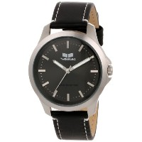 "ベスタル 時計 男女兼用 腕時計 Vestal Unisex HER3L02 ""Heirloom"" Stainless Steel Watch with Leather Band"