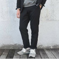Ordinary fits(オーディナリーフィッツ)/ SET UP WOOL PANTS -BLACK-【別注】