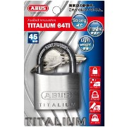 ABUS 南京錠 TITALIUM 45mm(BP-64TI/45KD)