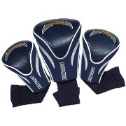 NFL San Diego Chargers 3 Pack Contour Fit Headcovers【ゴルフ アクセサリー>ヘッドカバー】