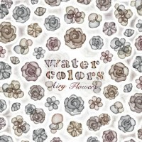 Sha-Nail Pro (写ネイルPRO/写ネイルプロ) Water Colors Airy Flowers/水彩 エアリーフラワー (Greige/グレージュ) 【Water Colors/...