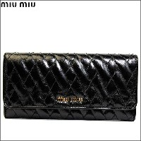MIUMIU/ミュウミュウ ラウンド 長財布 VITELLO SHINE T NERO 5m1109-vishit-nero【Luxury Brand Selection】【smtb-kd】あす楽対応【RCP...