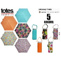 ☆トーツ【TOTES】TOTES Z0752 SAX/ORANGE/FLOWER/CIRCLE/FLORET 11967 折りたたみ傘 UVカット 10P25Oct14