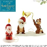 WDCC チップ&デール サンタ キャンドル プルートのクリスマス ツリー Chip n Dale Little Mischief Maker and Santa Candle Pluto...