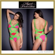 【Agent Provocateur】★Mazzy モノキニ★グリーン×ピンク Agent Provocateur(エージェントプロヴォケイター ) バイマ BUYMA