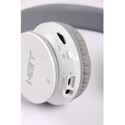 New ホワイト ブルートゥース Headphone with NFC function, work for サムスン アンドロイド Android スマート cell phone; Apple Phone...