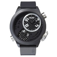 Welder by U-Boat ウェルダー Uボート メンズ腕時計 K32 Oversize Triple Time Zone Black Ion-Plated Steel Mens Watch K32-9202