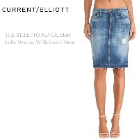 【SALE】Current Elliott(カレントエリオット)THE STILETTO PENCIL Jodie Destroy W/Released Hem【送料無料】ペンシルスカート/...