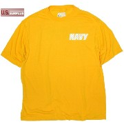 10P03Dec16 US SOFFE NAVY PT Tシャツ ポリエステル100 Yellow Made in USA