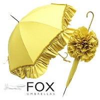 フォックスアンブレラ 傘 レディース FOX UMBRELLAS WL9 LADIES DEEP FRILL WALKING LENGTH UMBRELLAS 長傘 BEIGE