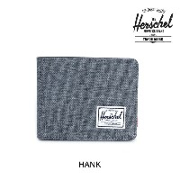 HERSCHEL ハーシェル 財布 ウォレット HANK WALLET CHARCOAL CROSSHATCH/BLACK