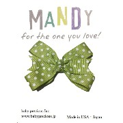 MANDY Baby Bows Moss Green with White Dot