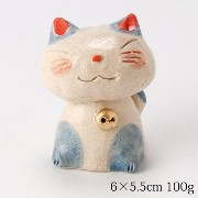 ゴロ猫 置物 (K3339) Cat figurine, Goro neko
