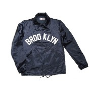 【期間限定30%OFF!】EBBETS FIELD(エベッツフィールド)/別注 60's VINTAGE SATIN COACH JACKET/BROOKLYN/navy