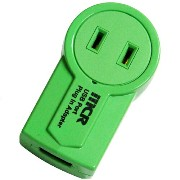 MERCURY USB Port Plug In Adapter(グリーン) C149GR