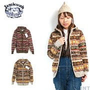 【SPESIAL SALE 10%OFF】(ジャミーソンズ) Jamieson's Lady's #MK180Z Fairisle Zip Knit Parka フェアアイル ジップアップ ニットパ...