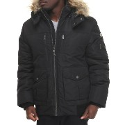 ショーンジョン Sean John メンズ アウター コート【s j signature snorkel coat w/ faux - fur - lined hood】ブラック【10P03Dec16...