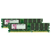 Kingston 2GB 400MHz DDR Non-ECC CL3 (3-3-3) DIMM (Kit of 2) KVR400X64C3AK2/2G