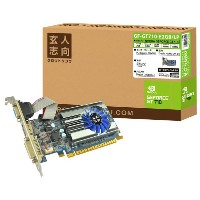玄人志向 NVIDIA GEFORCE GT710搭載 PCI-Express グラフィックボード GF-GT710-E2GB/LP [GFGT710E2GBLP]【1201_flash】【SPOA】【10P03Dec16...