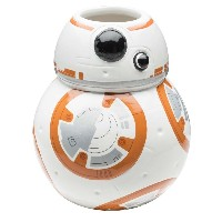 Zak! Designs Sculpted Ceramic Mug in Shape of BB-8 from Star Wars The Force Awakens, BPA-free, Star Wars Collectible [並行輸入品]