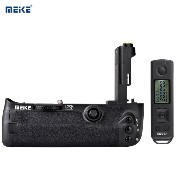 MEIKE MK-5DS R 2.4G ワイヤレスリモコン 交換 垂直 バッテリーグリップ バッテリーホルダー Canon 5D Mark III/ 5DS / 5DS ...