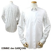 COMME des GARCONS HOMME DEUX コムデギャルソン シャツ 長袖 ホワイト メンズ あす楽