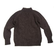 【期間限定30%OFF!】A WHALER SWEATER/MOCK NECK SWEATER/black(dark brown)