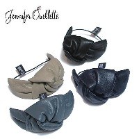 ≪Jennifer Ouellette≫ ジェニファー・オーレット全4色 レザー リボン ヘアゴム Bow with Leather Pony Hair tie【レディー...