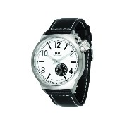 ベスタル 時計 メンズ 腕時計 Vestal Men's CTN3L03 Canteen White Dial Black Leather Watch