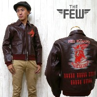 """THE FEW ザ・フュー レザー フライトジャケット A-2 """"RED RAIDERS"""" A-2 ハンドペイント AERO CLOTHING CO.Contract No. AC 21996 エ..."""