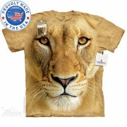 The Mountain Tシャツ The Smithsonian Big Face Lioness (The Smithsonian ライオン メンズ 男性用 男女兼用 ) XL-4L 【輸入品】 大...