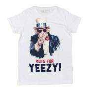 Happiness10 Happiness is a $10 TeeハピネステンダラーティーVOTE FOR YEEZY! Tシャツ ホワイト インポート ユニセックス