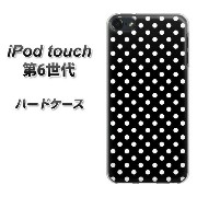 【SS限定半額】iPod touch 6 第6世代 ハードケース / カバー【059 ドット柄(水玉)ブラック×ホワイト 】(iPod touch6/IPODTOUCH6...