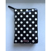 kate spade/ケイトスペード 2017年最新システム手帳 Carlisle Street Patent Black with Cream Polka Dot Leather zip around personal organizer...