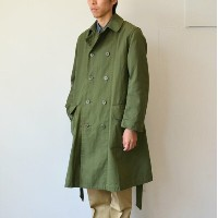 MARKAWARE(マーカウェア)/ HI-TWISTED COTTON OXFORD DUSTER COAT -OLIVE-