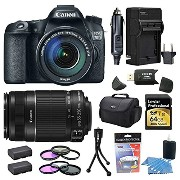 Canon EOS 70D 20.2 MP デジタル SLR Camera with デュアル ピクセル CMOS AF and EF-S 18-135mm F3.5-5.6 IS STM キット バンドル with Canon...