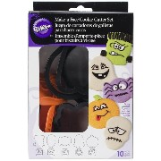Plastic Cookie Cutter Set 10/Pkg-Halloween Faces