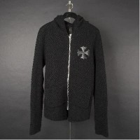 CHROME HEARTS MENS OUTSIDER CASHMERE SWEATER クロムハーツ メンズ OUTSIDER カシミア セーター CH プラスパッチ