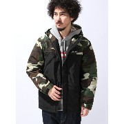 【SALE/30%OFF】DOUBLE STEAL BLACK Camouflage Mountain Parker Jacket ダブルスティール コート/ジャケット【RBA_S】【RBA_E】【...