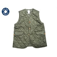 POST OVERALLS(ポストオーバーオールズ)/#1512 ROYAL TRAVELER NYLON TAFFETA QUILTING VEST/olive