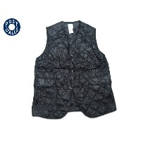 POST OVERALLS(ポストオーバーオールズ)/#1512 ROYAL TRAVELER NYLON TAFFETA QUILTING VEST/black