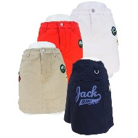【NEW】Jack Bunny!! by PEARLY GATES ジャックバニー デコワッペンストレッチツイルミニスカート 263-6234802/16D