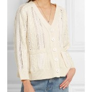 【Sea New York】【ケーブル】Lace-paneled cable-knit cardigan Sea NEW YORK(シーニューヨーク) バイマ BUYMA