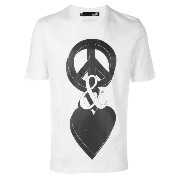 Love Moschino Peace & Love プリント Tシャツ